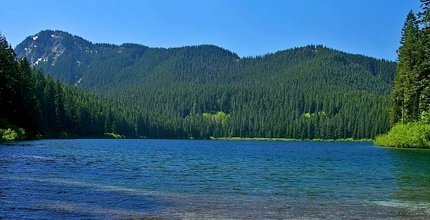 Blue Lake in the Gifford Pinchot National Forest