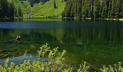 Cora Lake in the Gifford Pinchot National Forest