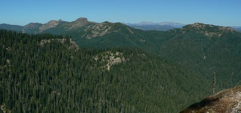 Looking northeast at Juniper Ridge from the Hat Point trail in the Gifford Pinchot National Forest