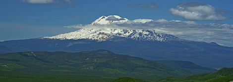Mt Adams as seen from the summit of Little Huckleberry Mountain in the Gifford Pinchot National Forest