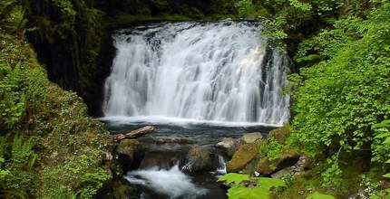 Dutchman Falls on Multnomah Creek