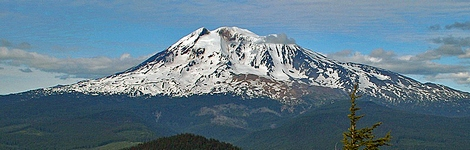 Mt Adams as seen from Sleeping Beauty in the Gifford Pinchot National Forest