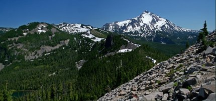 View of Mt Jefferson from Bear Point