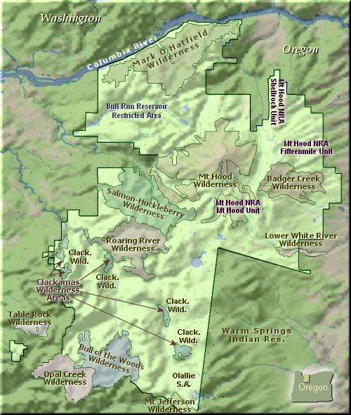 Northwest Hiker presents Hiking in the Mt Hood National Forest of Oregon