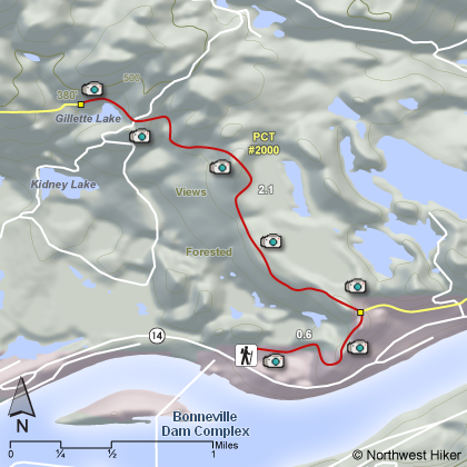 Gillette Lake Hike map