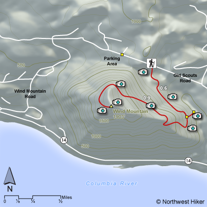 Wind Mountain Hike map